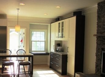 Kitchen and living room in the Kentlands