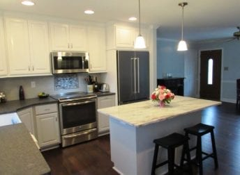 Lovely kitchen with a beverage station