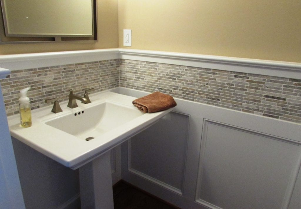 Cute Powder Room Remodel In Middletown Talon Construction