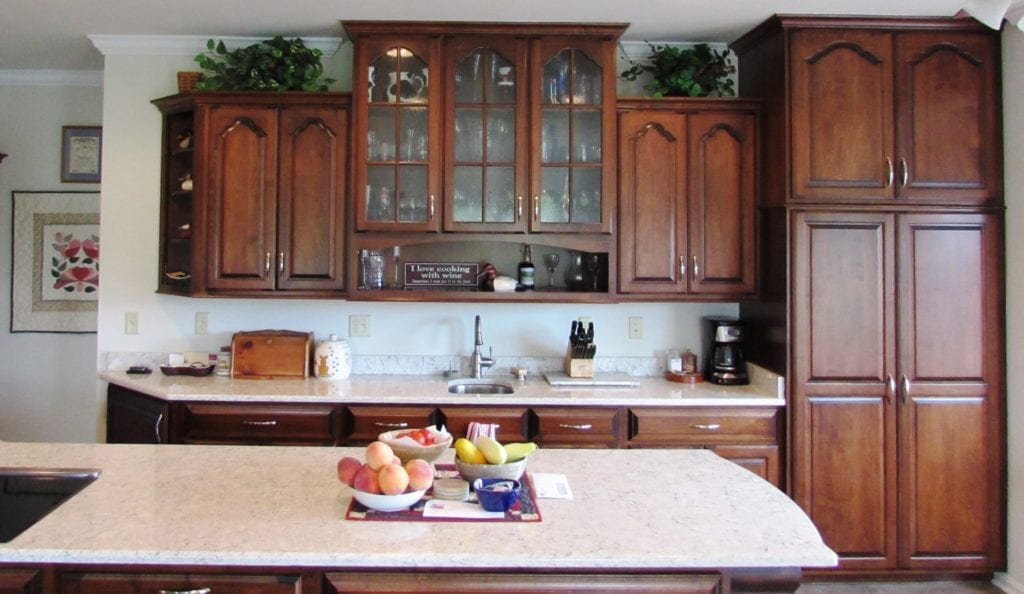 Gorgeous Kitchen Renovation In Potomac Maryland: Jefferson Kitchen Remodel With Dog Niche And Custom Wood