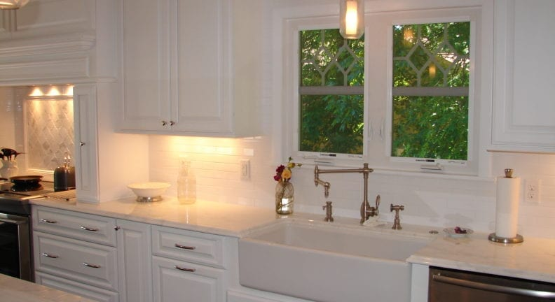 Frederick kitchen remodel with white cabinetry