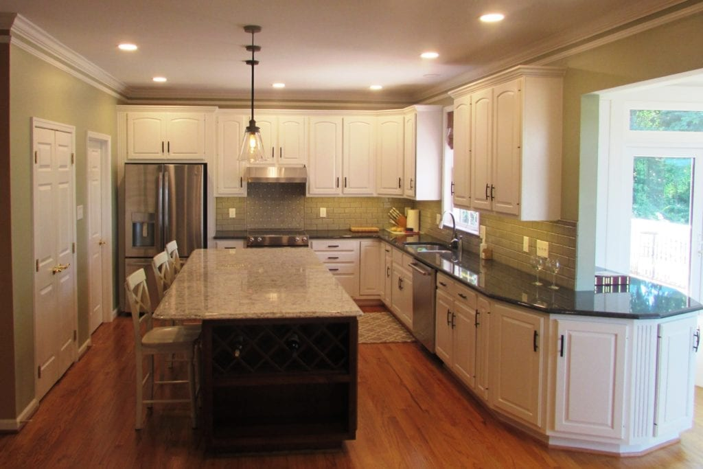 Kitchen Remodel In Frederick With Green Painted Walls