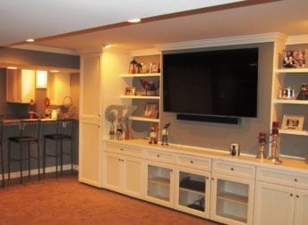 Cool basement remodeling project