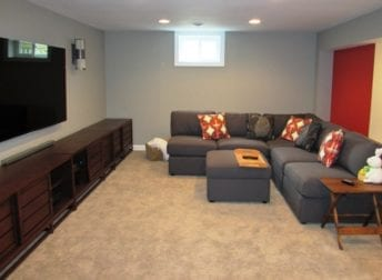 Basement remodel in the Kentlands