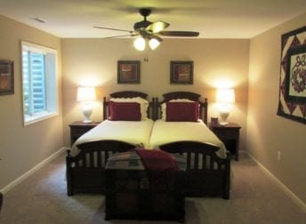 Basement remodel in Frederick with bedroom