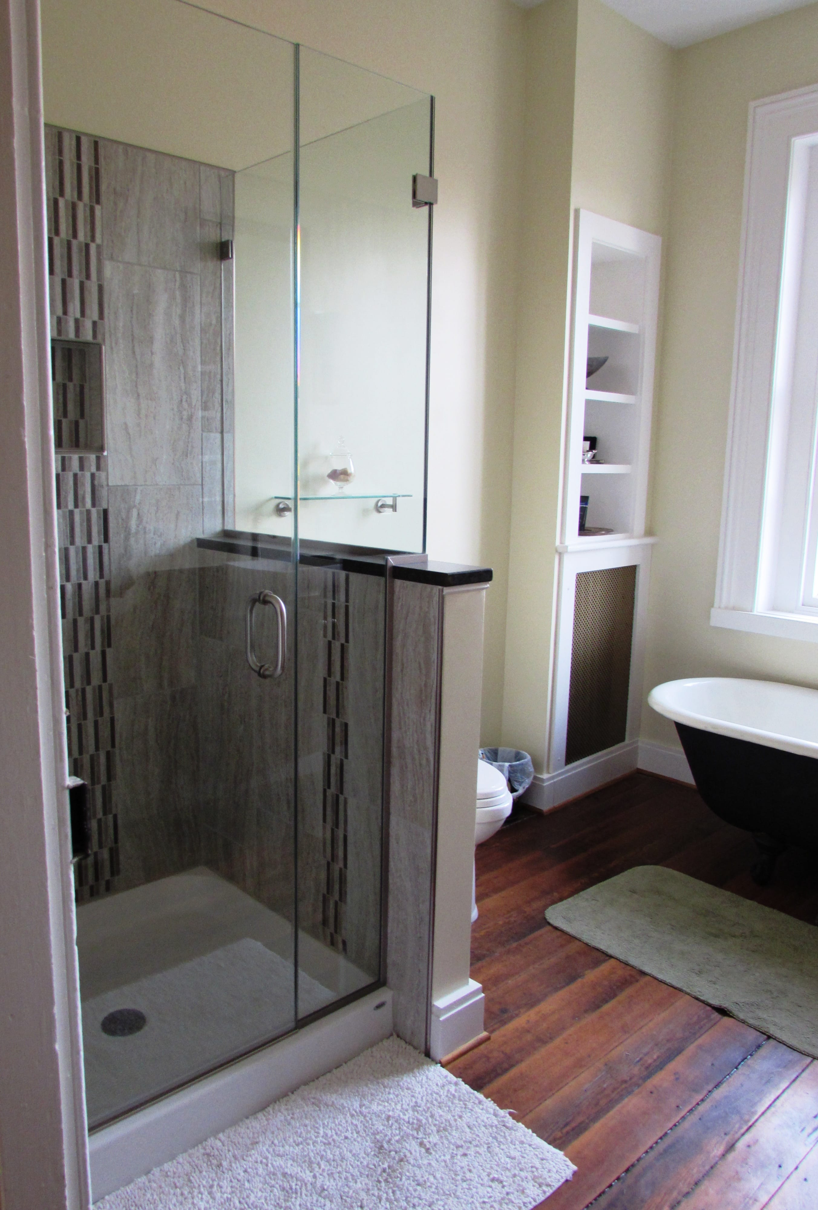 Downtown Frederick bathroom renovation in historic home ...