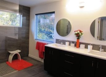 Modern bathroom remodel in Frederick