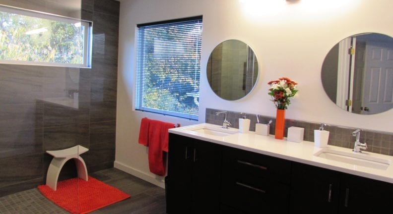 Modern bathroom remodel in Frederick