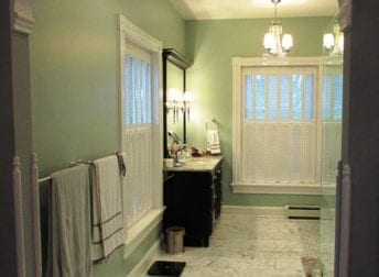 A master bathroom in Downtown Frederick