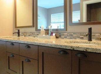 Design-build bathroom remodel