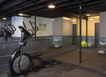 potomac basement remodel with a home gym  talon construction