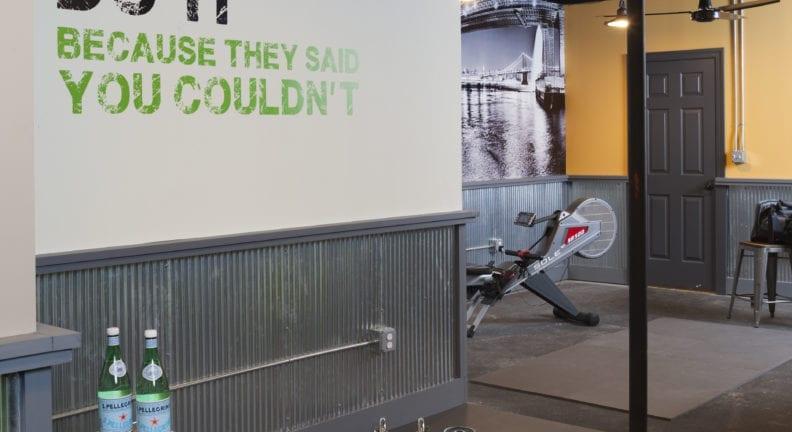 Potomac basement with a home gym