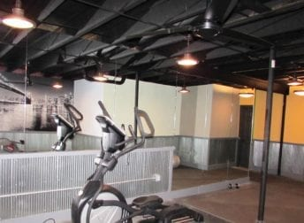basement remodel with a home gym