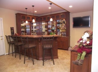 Unique basement remodel in Darnestown