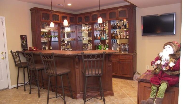 Unique basement remodel in Darnestown
