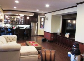 Basement remodel with a secret