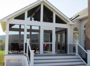 Screened porch project in Middletown