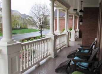 Wrap around front porch