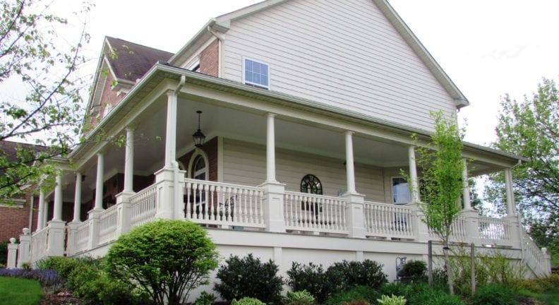 Wrap around front porch addition