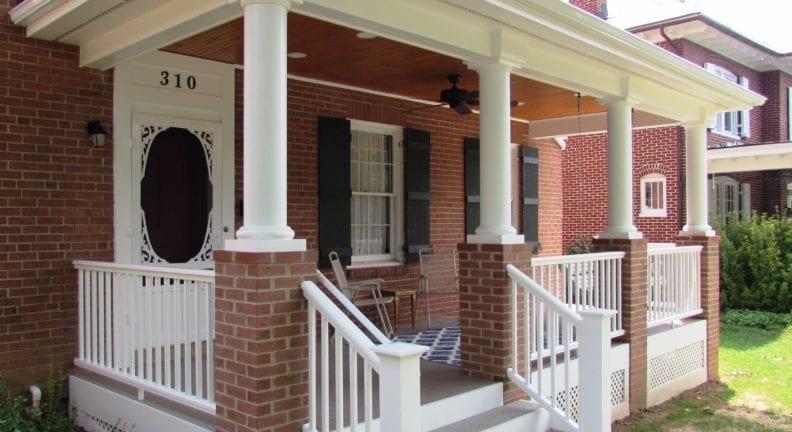 Baker Park porch in Frederick