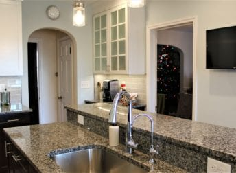 Who does home remodeling in Maryland this one is a kitchen renovation with a beverage station and long island