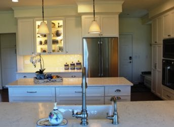 White cabinetry in Maryland kitchen remodel