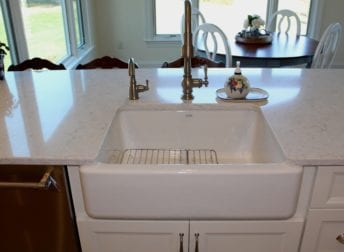 Farm sink in Mount Airy kitchen remodel