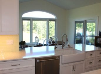 Renovate your home to make it flow easierFarm sink in Mt. Airy kitchen renovation project