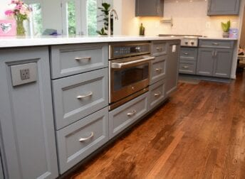 Plenty of kitchen space in an open floor plan