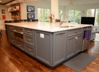 large kitchen island remodel in Potomac