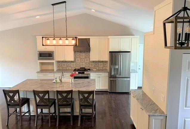 Open kitchen floor plan remodel