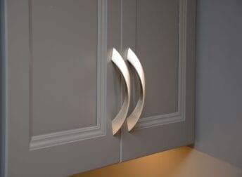 Cabinet hardware in Potomac kitchen remodel