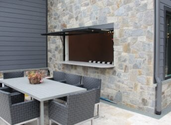 Cool awning window in a design build kitchen remodel